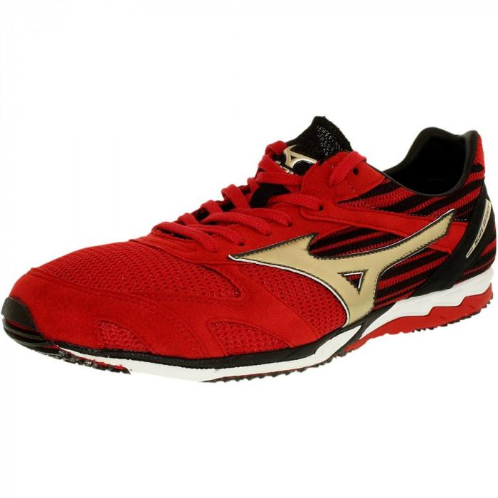 Mizuno barbati Wave Ekiden Si Red/Gold Ankle-High Running Shoe