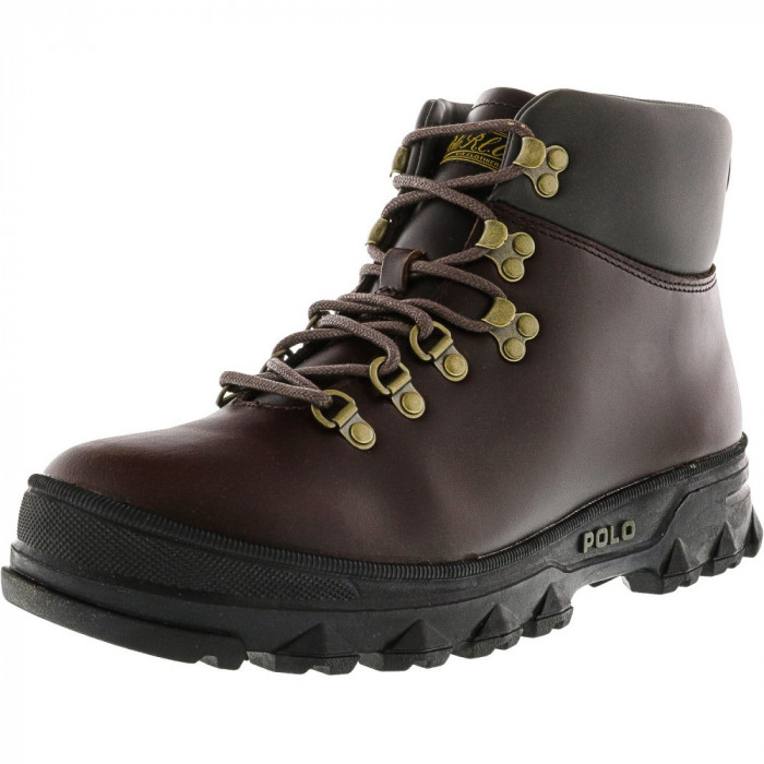 Polo Ralph Lauren barbati Hainsworth Dark Brown / High-Top Leather Boot foto mare