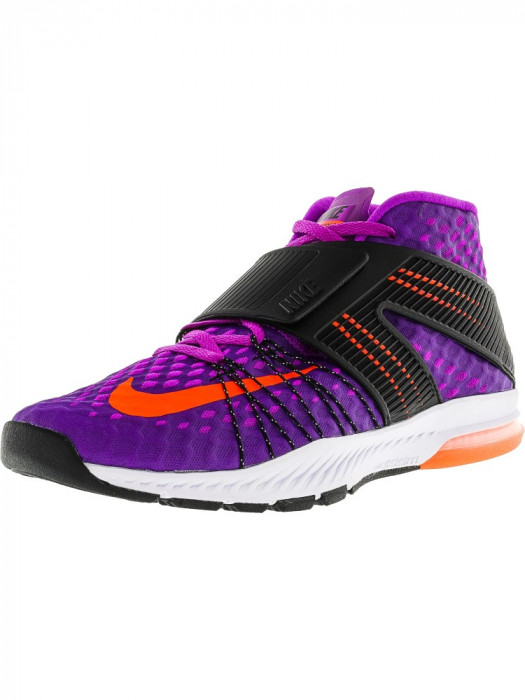 Nike barbati Zoom Train Toranada Hyper Violet / Total Crimson-Black-White Ankle-High Cross Trainer Shoe foto mare