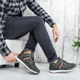 Pantofi sport barbati Villyel verzi camuflaj