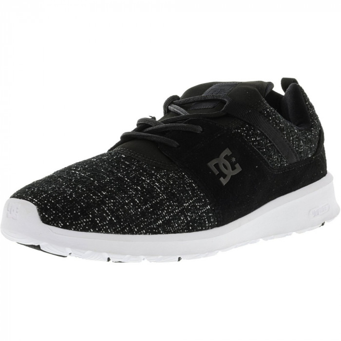 Dc barbati Heathrow Le Black Marl Ankle-High Fabric Running Shoe