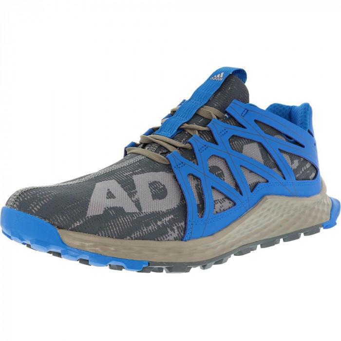 Adidas barbati Vigor Bounce Trail Runner Grey/Onix/Shock Blue Ankle-High foto mare