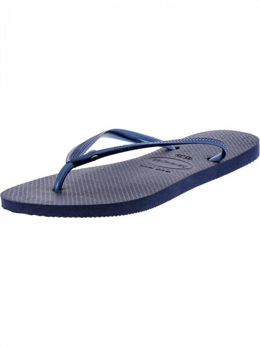 Havaianas Slim Crystal Glamour Sw Navy Blue Rubber Sandal