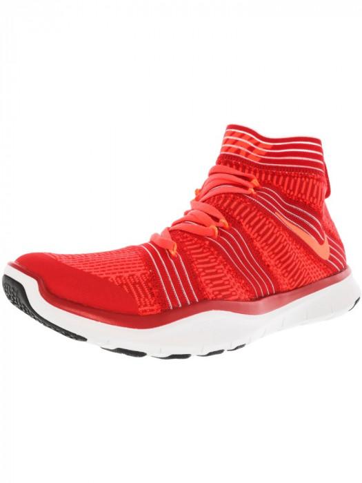 Nike barbati Free Train Virtue University Red / Hyper Orange High-Top Cross Trainer Shoe foto mare