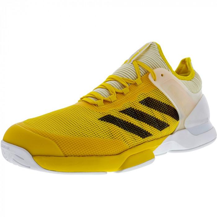 Adidas barbati Adizero Ubersonic 2 Equipment Yellow / Black White Low Top Tennis Shoe