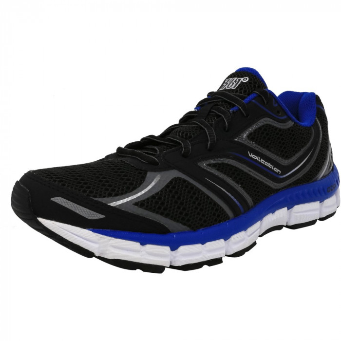 361 barbati Volitation Black / Castlerock Nautical Blue Ankle-High Fabric Running Shoe foto mare