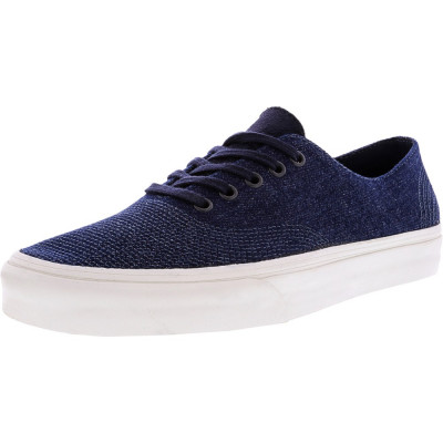 Vans Authentic One Pie Pig Suede And Denim Parisian Night Ankle-High Canvas Skateboarding Shoe foto