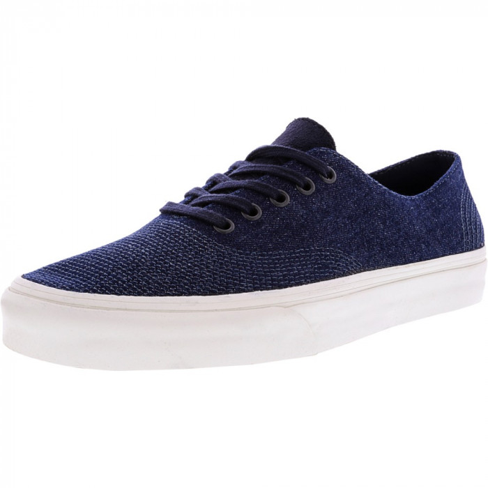 Vans Authentic One Pie Pig Suede And Denim Parisian Night Ankle-High Canvas Skateboarding Shoe foto mare