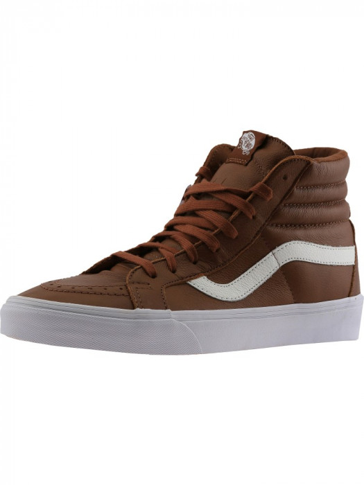Vans barbati Sk8-Hi Reissue Premium Leather Tortoise Shell High-Top Skateboarding Shoe foto mare