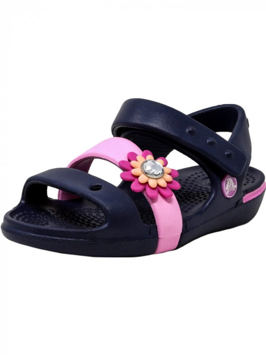 Crocs Keeley Petal Sandal Navy / Carnation Ankle-High foto mare