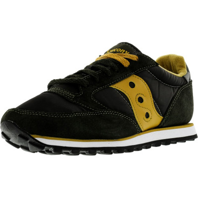 Saucony barbati Jazz Low Pro Dark Green / Gold Ankle-High Leather Fashion Sneaker foto