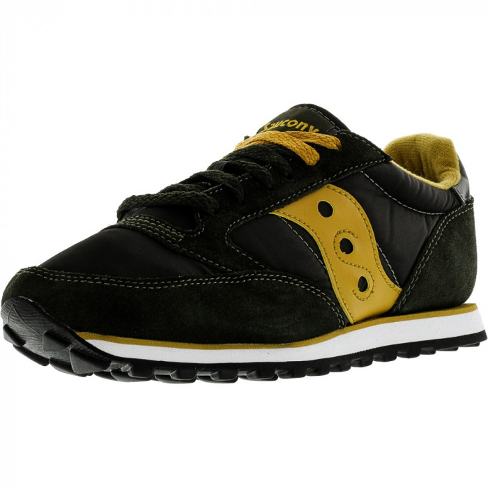 Saucony barbati Jazz Low Pro Dark Green / Gold Ankle-High Leather Fashion Sneaker foto mare