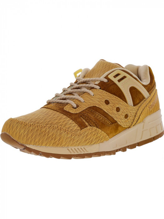 Saucony barbati Grid Sd Ht Tan / Brown Ankle-High Fashion Sneaker foto mare