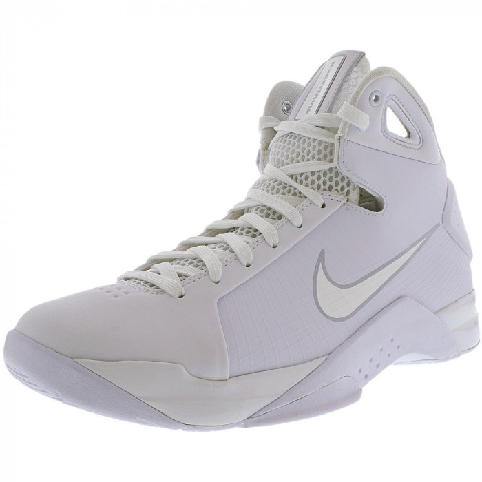 Nike barbati Hyperdunk 08 White/White/Pure Platinum Ankle-High Basketball Shoe foto mare