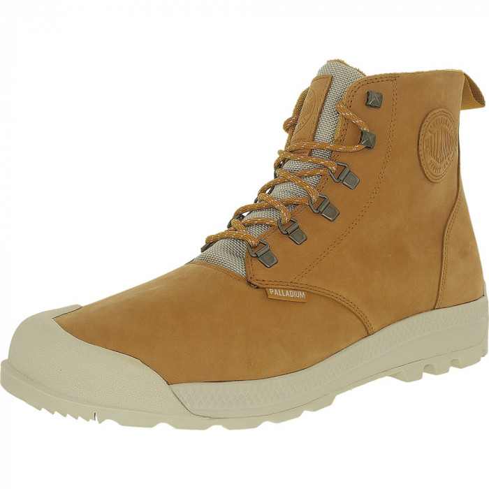 Palladium barbati Pampatech Hi Leather Wp Amber Gold/Silver Birch Ankle-High Boot