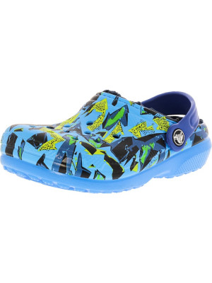 Crocs Classic Lined Graphic Clog Ocean / Navy Ankle-High Clogs foto