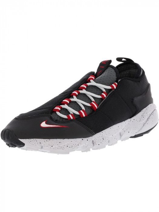 Nike barbati Air Footscape Nm Black / Wolf Grey Ankle-High Running Shoe foto mare