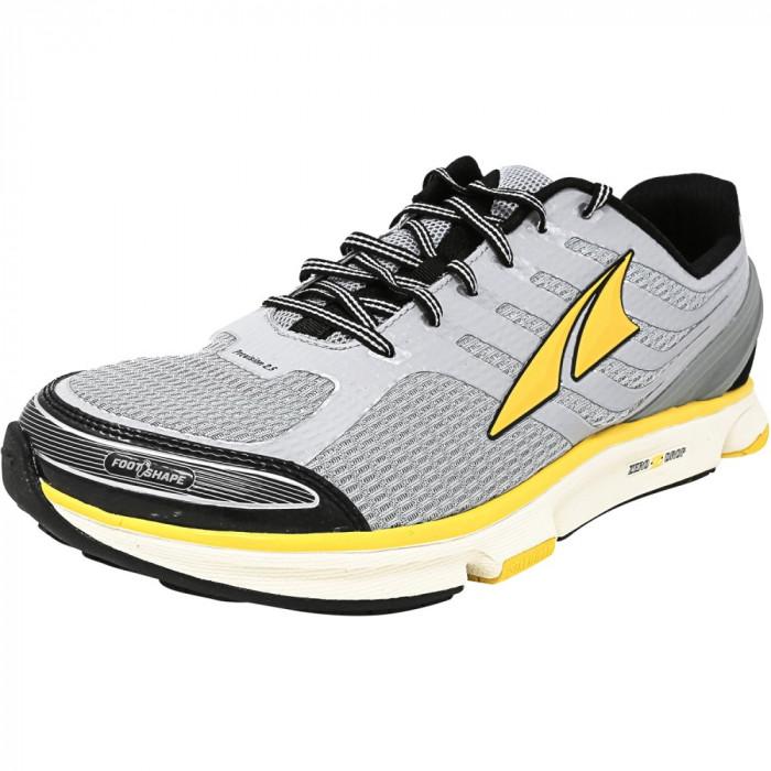 Altra barbati Provision 2.5 Silver / Cyber Yellow Ankle-High Running Shoe foto mare