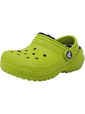 Crocs Classic Lined Clog Volt Green / Navy Rubber Slipper foto