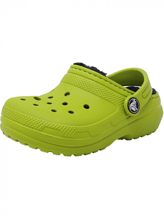 Crocs Classic Lined Clog Volt Green / Navy Rubber Slipper foto mare