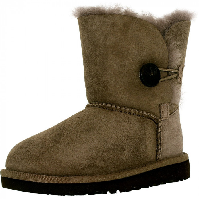 Ugg fete Bailey Button T Stormy Grey Mid-Calf Wool Snow Boot