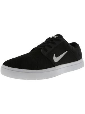 Nike barbati Sb Portmore Renew Black / White Anthracite Ankle-High Skateboarding Shoe foto