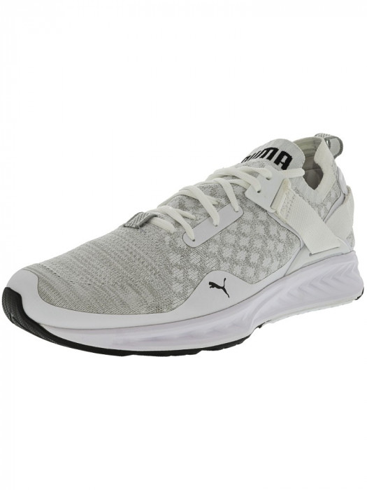 Puma barbati Ignite Evoknit Lo White / Vaporous Grey Black Ankle-High Running Shoe