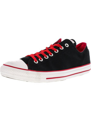Converse Chuck Taylor All Star Ox Black / Varsity Red Ankle-High Fashion Sneaker foto