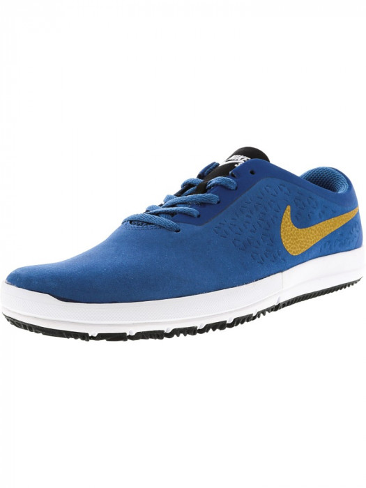 Nike barbati Free Sb Nano Brigade Blue / Metallic Gold Ankle-High Skateboarding Shoe foto mare