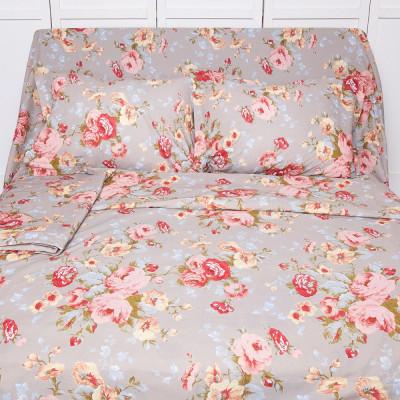 Lenjerie de pat pentru 2 persoane BonDia, Model Ania, 100% bumbac, 4 piese foto