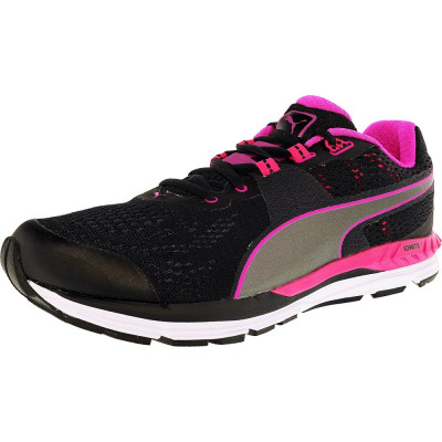 Puma barbati Speed 600 Ignite Black/Pink Glow/Aged Silver Ankle-High Running Shoe foto