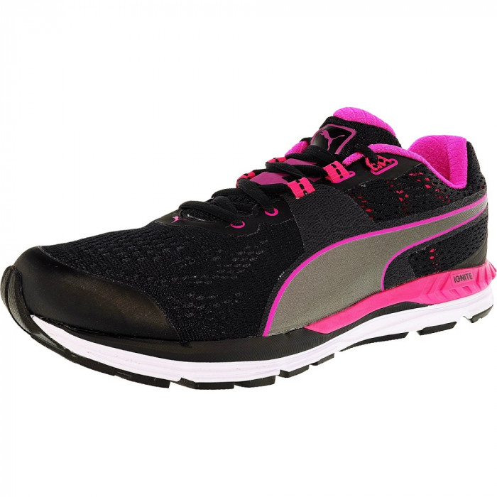 Puma barbati Speed 600 Ignite Black/Pink Glow/Aged Silver Ankle-High Running Shoe