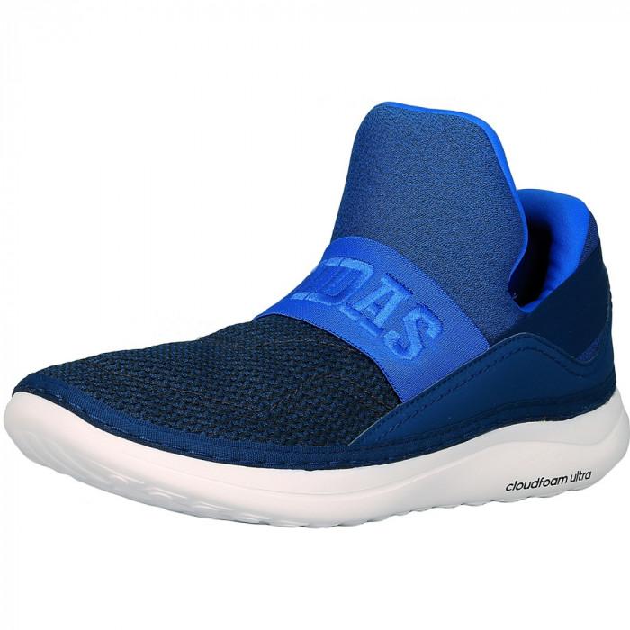 Adidas barbati Cloudfoam Plus Zen Blue/Dark Navy/White Ankle-High Fabric Fashion Sneaker