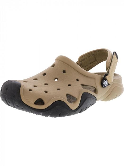 Crocs barbati Swiftwater Clog Khaki / Black Ankle-High Rubber Sandal