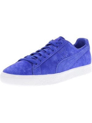 Puma barbati Clyde Mjrl Fm Dazzling Blue / Ankle-High Suede Fashion Sneaker foto