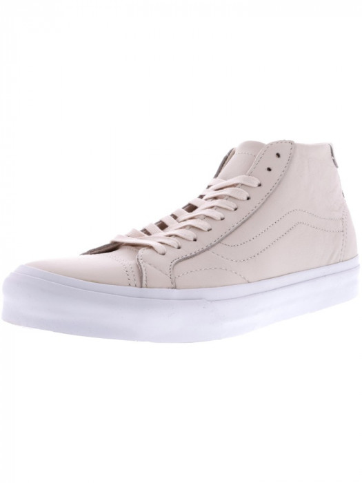 Vans Court Mid Dx Leather Delicacy Ankle-High Canvas Skateboarding Shoe