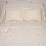 Lenjerie de pat pentru 2 persoane BonDia, Model Goldie, 100% bumbac, 4 piese