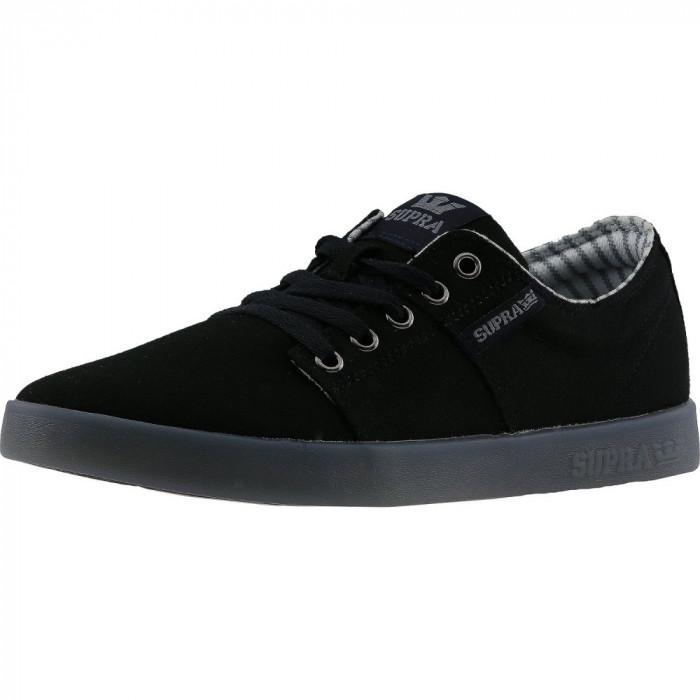 Supra barbati Stacks Ii Black / Ice Ankle-High Suede Fashion Sneaker foto mare