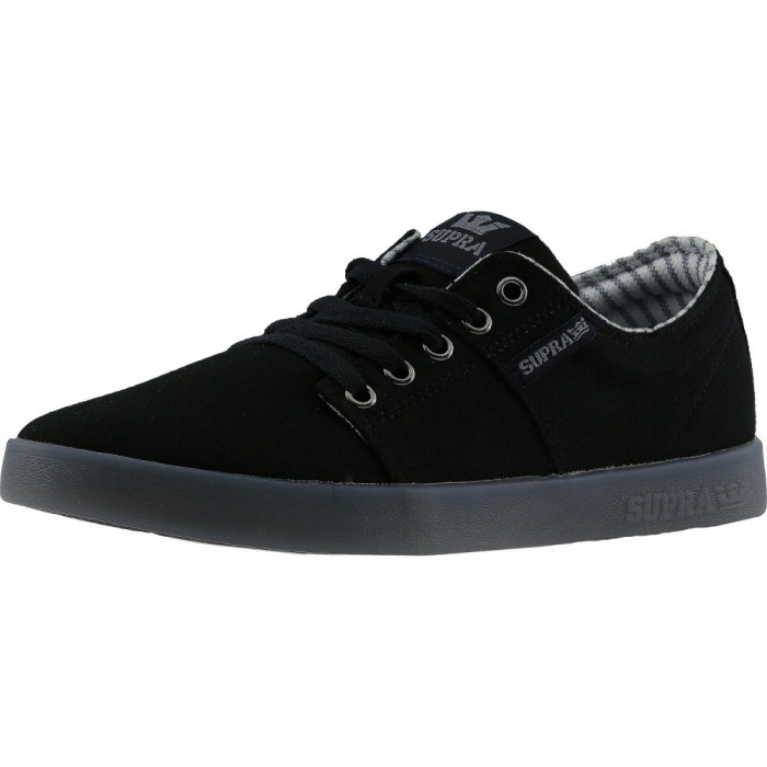 Supra barbati Stacks Ii Black / Ice Ankle-High Suede Fashion Sneaker