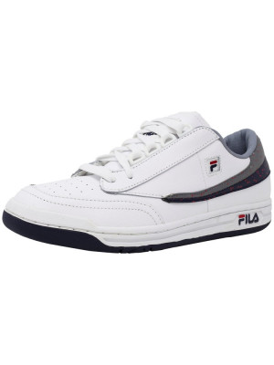 Fila barbati Original Tennis White / Navy High Rise Ankle-High Shoe foto