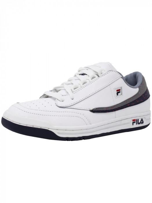 Fila barbati Original Tennis White / Navy High Rise Ankle-High Shoe foto mare