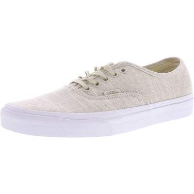 Vans Authentic Hemp Linen Turledove / True White Ankle-High Canvas Skateboarding Shoe foto