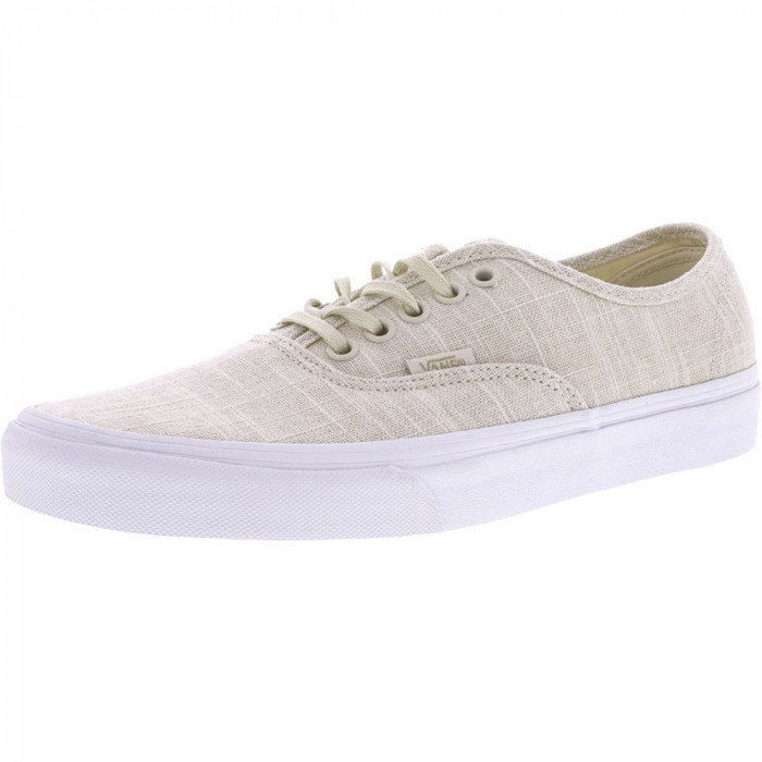 Vans Authentic Hemp Linen Turledove / True White Ankle-High Canvas Skateboarding Shoe