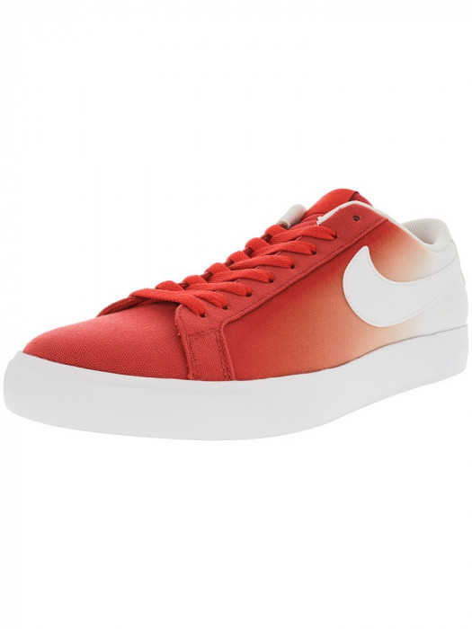 Nike barbati Sb Blazer Vapor Track Red / White Ankle-High Canvas Skateboarding Shoe