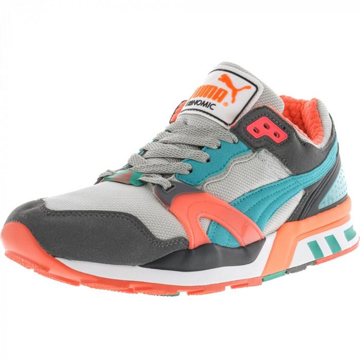 Puma barbati Trinomic Xt 2 Steel Grey / Fluorescent Teal Pink Ankle-High Fashion Sneaker foto mare