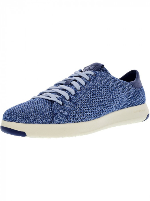 Cole Haan barbati Grandpro Tennis Stitchlite Navy Peony / Chambray Blue Ankle-High Fashion Sneaker foto mare