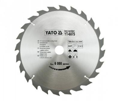 Disc fierastrau wolfram pentru lemn 300 mm x 24T YATO foto