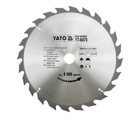 Disc fierastrau wolfram pentru lemn 300 mm x 24T YATO