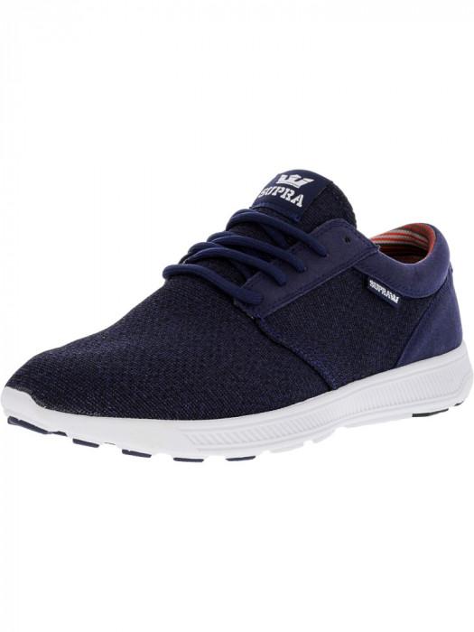 Supra barbati Hammer Run Blue Nights Heather / White Ankle-High Running Shoe