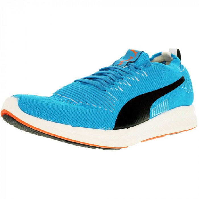 Puma barbati Ignite Proknit Atomic Blue/White Ankle-High Fashion Sneaker foto mare